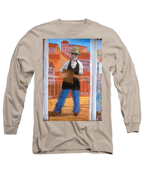 Long Sleeve T-Shirt featuring the painting Captured In Antibes by Gary Coleman