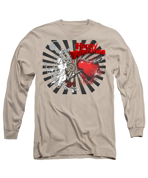 Card Valentine Cherub Long Sleeve T-Shirt