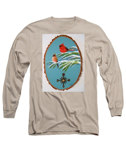 Cardinal Clock Long Sleeve T-Shirt