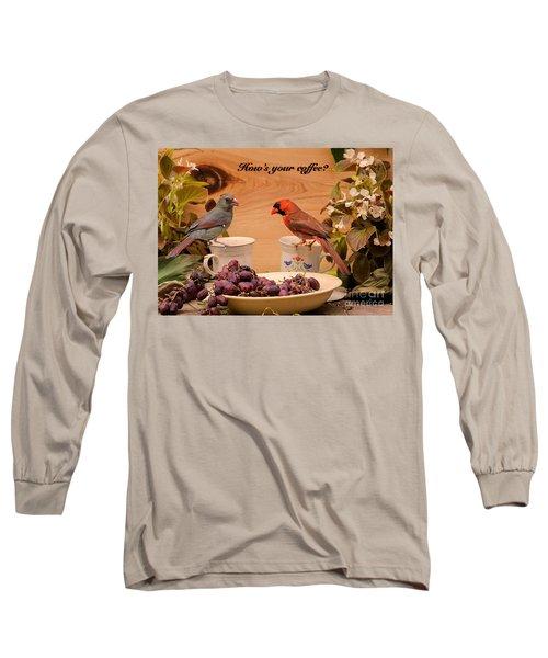 Cardinal Coffee Long Sleeve T-Shirt