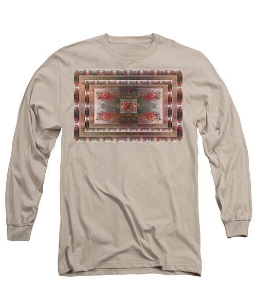 Cardinal Flower Design Long Sleeve T-Shirt