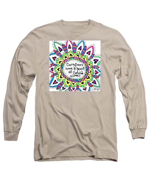 Caregiver Flower Long Sleeve T-Shirt by Carole Brecht