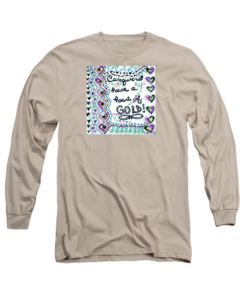 Caregiver Joy Long Sleeve T-Shirt by Carole Brecht