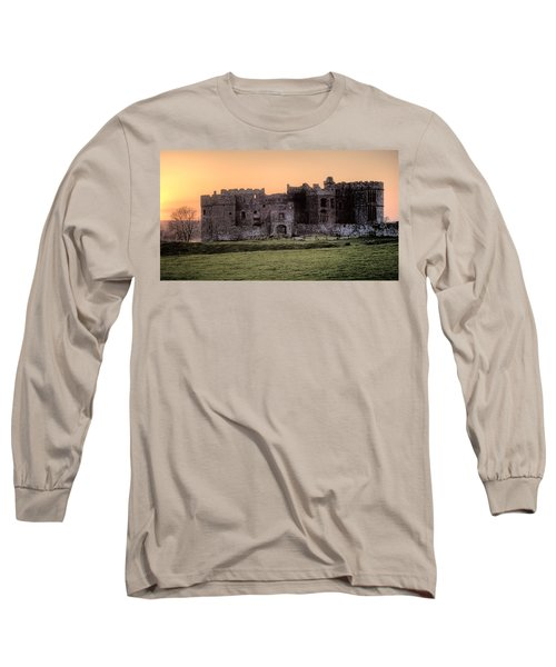 Carew Castle Coral Sunset Long Sleeve T-Shirt