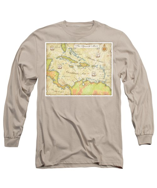 Caribbean Map - Good Long Sleeve T-Shirt by Sample