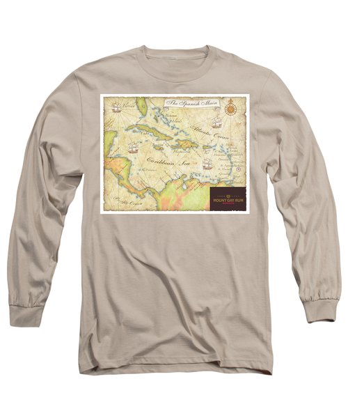 Caribbean Map II Long Sleeve T-Shirt by Unknown