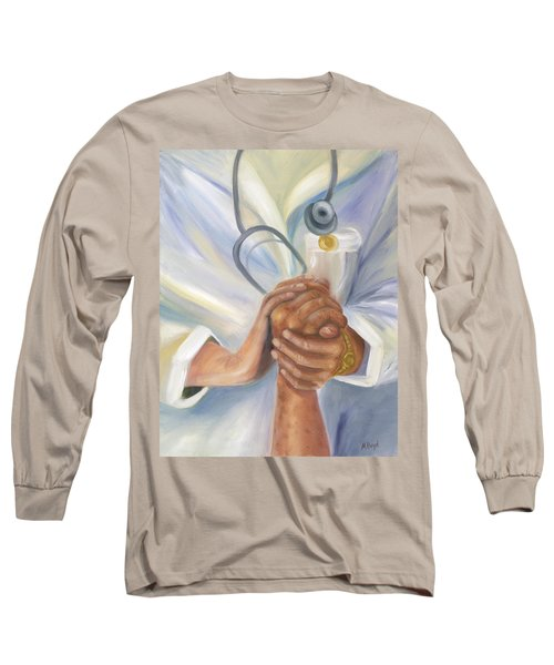 Long Sleeve T-Shirt featuring the painting Caring A Tradition Of Nursing by Marlyn Boyd