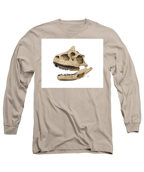 Carnotaurus Skull Long Sleeve T-Shirt