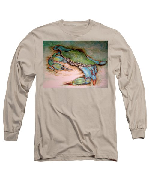 Carolina Blue Crab Long Sleeve T-Shirt