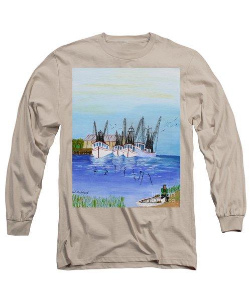 Carolina Shrimpers Long Sleeve T-Shirt by Bill Hubbard
