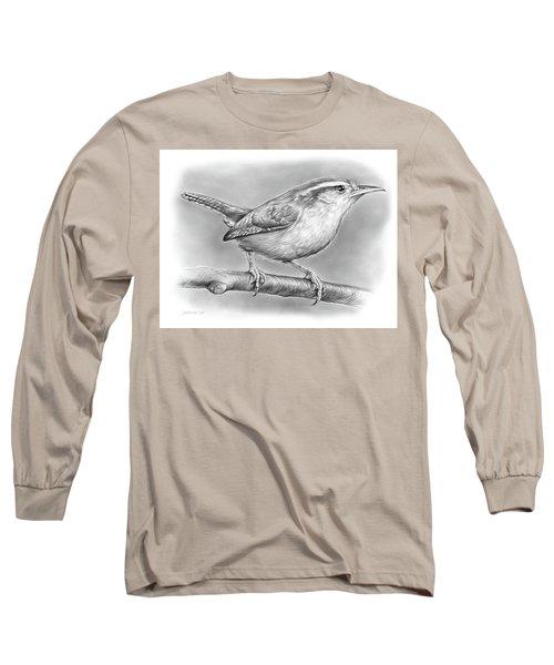 Carolina Wren Long Sleeve T-Shirt by Greg Joens