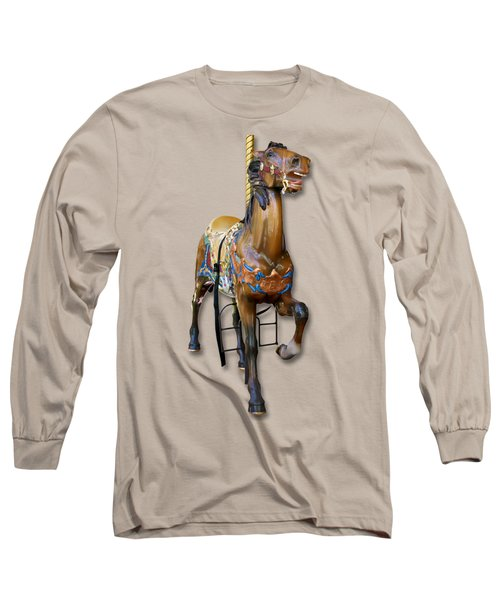 Carousel Horse Long Sleeve T-Shirt by Bob Slitzan