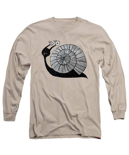Cartoon Snail With Spiral Eyes Long Sleeve T-Shirt