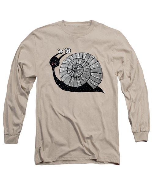 Cartoon Snail With Spiral Eyes Long Sleeve T-Shirt