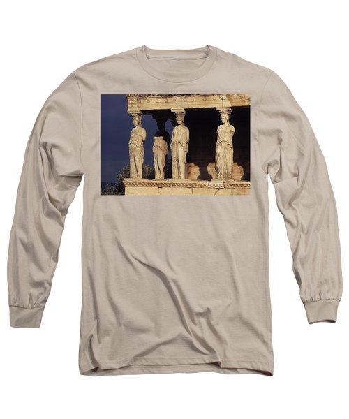 Caryatides At The Acropolis Long Sleeve T-Shirt