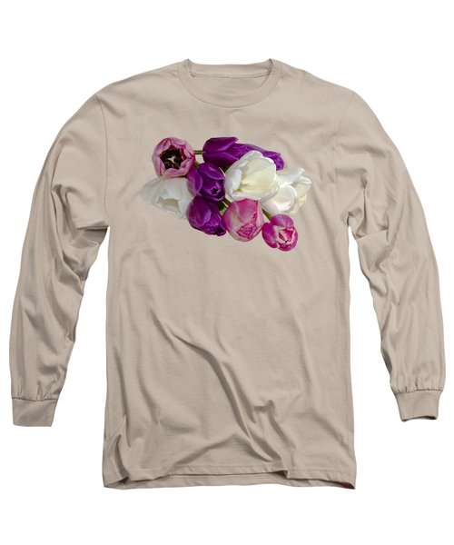 Cascading Tulips Long Sleeve T-Shirt by Phyllis Denton