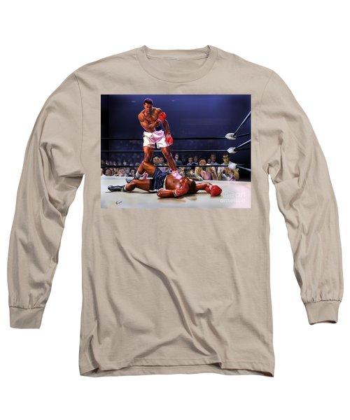 Cassius Clay Vs Sonny Liston Long Sleeve T-Shirt