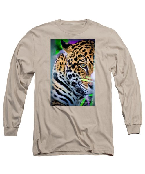 Long Sleeve T-Shirt featuring the painting Cat Eye by Judy Kay