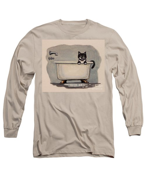 Cat In The Bathtub Long Sleeve T-Shirt