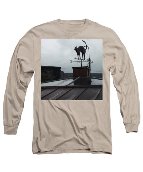 Cat On A Cool Tin Roof Long Sleeve T-Shirt