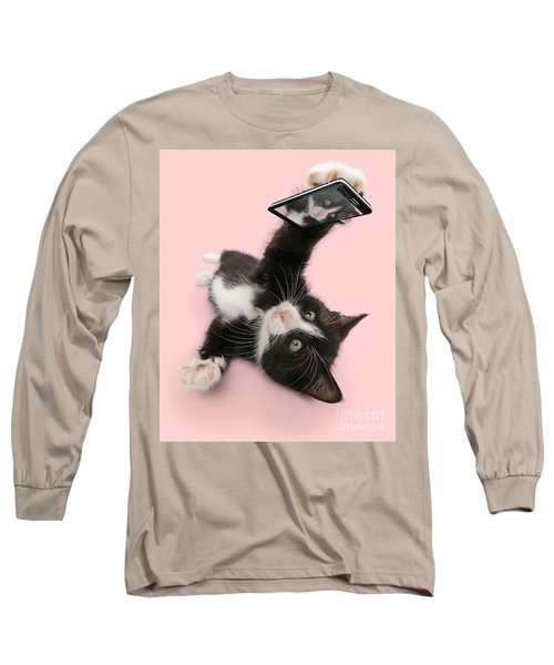 Cat Selfie Long Sleeve T-Shirt