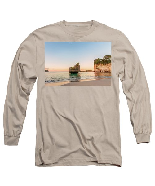 Cathedral Cove, New Zealand Long Sleeve T-Shirt