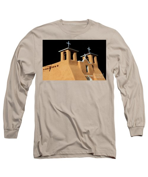 Long Sleeve T-Shirt featuring the photograph St Francis De Assi Church  New Mexico by Bob Christopher