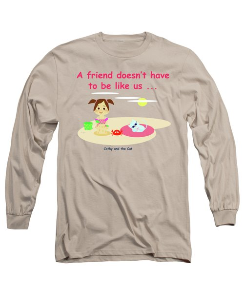 Cathy And The Cat Friends And Us Long Sleeve T-Shirt