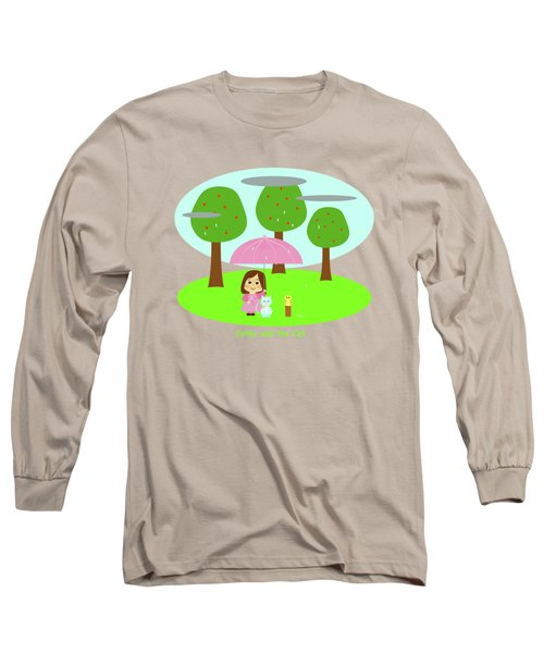 Cathy And The Cat Rainy Day Long Sleeve T-Shirt