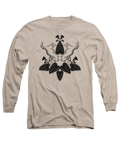 Cats And Catnip Graphic Long Sleeve T-Shirt