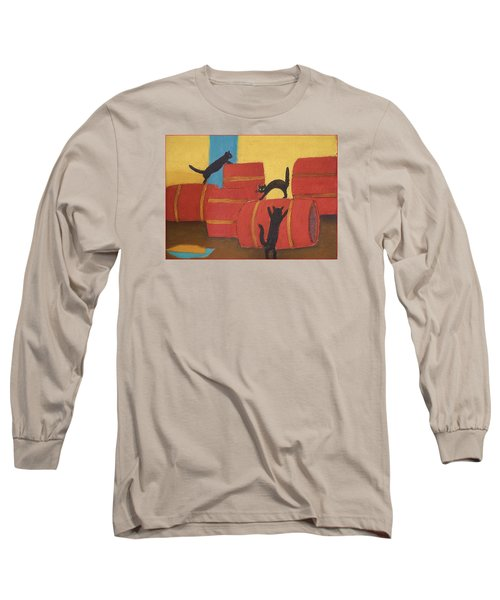 Long Sleeve T-Shirt featuring the photograph Cats by Vladimir Kholostykh