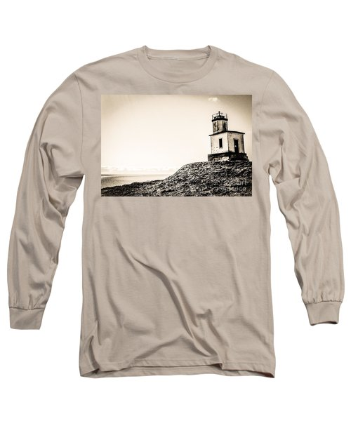 Cattle Point Lighthouse Long Sleeve T-Shirt by William Wyckoff
