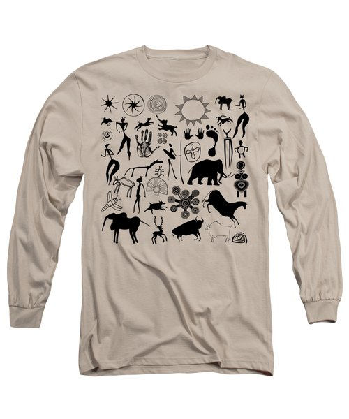 Cave Painting Long Sleeve T-Shirt by Michal Boubin