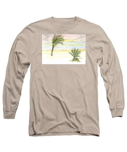Cayman Beach Long Sleeve T-Shirt by Darren Cannell