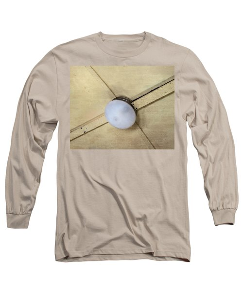 Ceiling Light On Antique Train Long Sleeve T-Shirt by Gary Slawsky