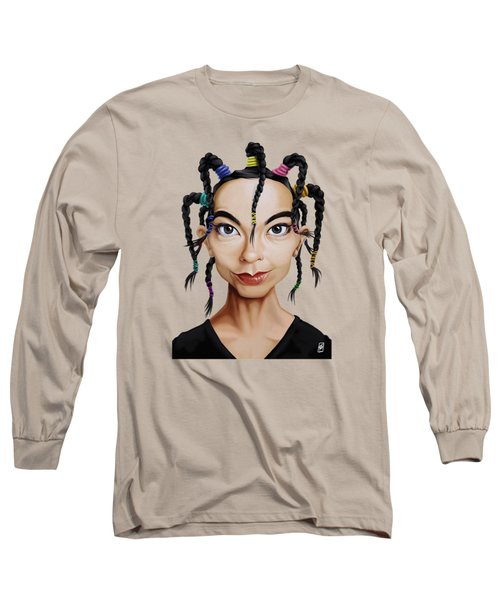 Celebrity Sunday - Bjork Long Sleeve T-Shirt by Rob Snow