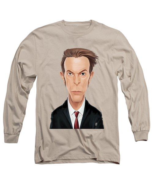 Celebrity Sunday - David Bowie Long Sleeve T-Shirt by Rob Snow