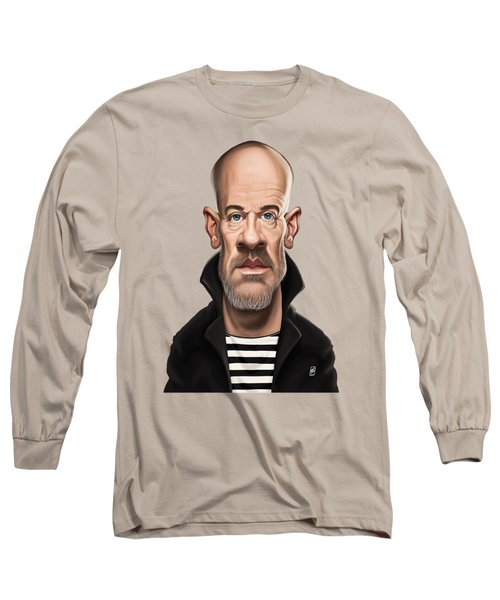 Long Sleeve T-Shirt featuring the drawing Celebrity Sunday - Michael Stipe by Rob Snow