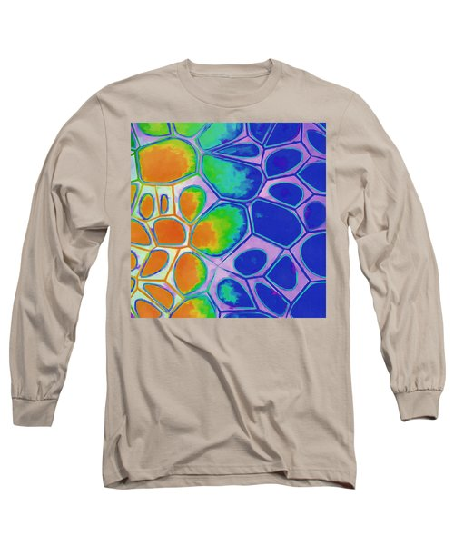 Cell Abstract 2 Long Sleeve T-Shirt by Edward Fielding