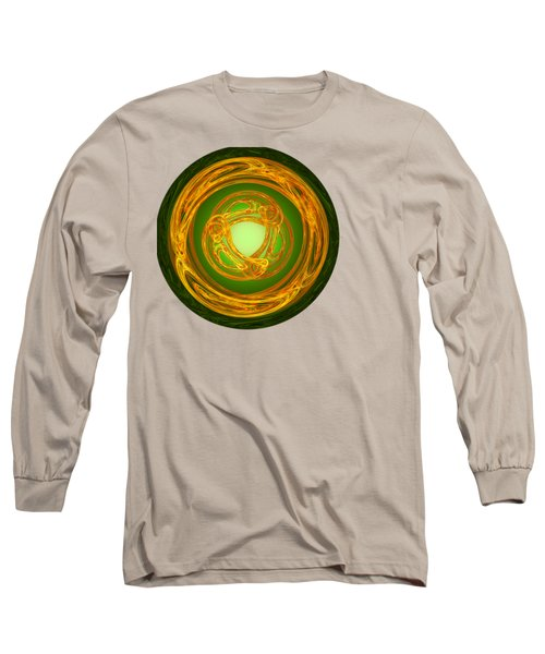 Long Sleeve T-Shirt featuring the digital art Celtic Abstract On Green by Jane McIlroy