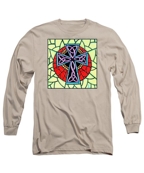 Long Sleeve T-Shirt featuring the painting Celtic Cross by Jim Harris