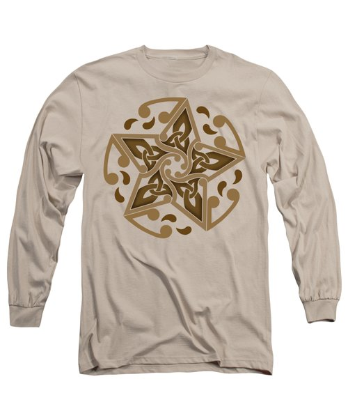 Long Sleeve T-Shirt featuring the mixed media Celtic Star by Kristen Fox