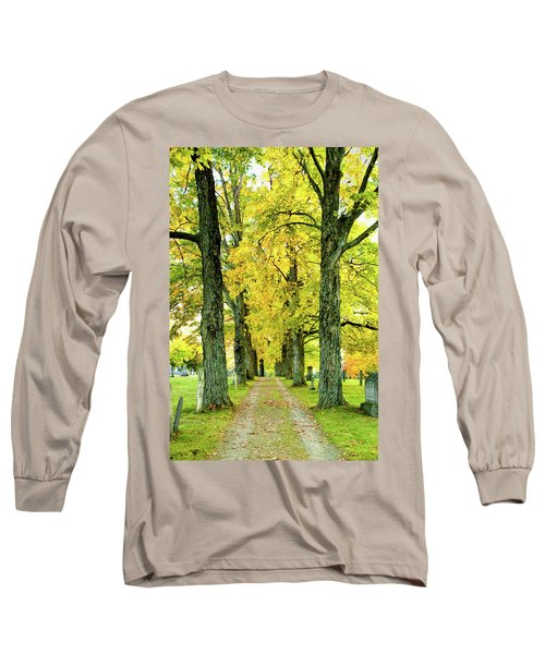 Long Sleeve T-Shirt featuring the photograph Cemetery Lane by Greg Fortier