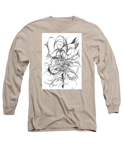 Centred Long Sleeve T-Shirt by Charles Cater