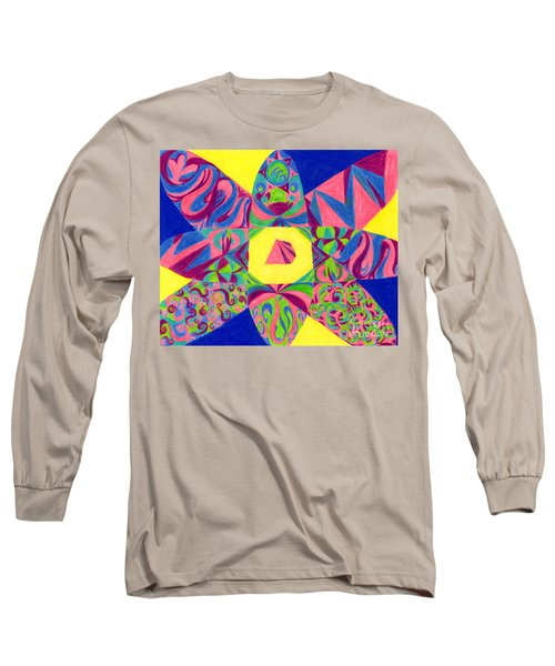 Long Sleeve T-Shirt featuring the drawing Centrifugal by Kim Sy Ok