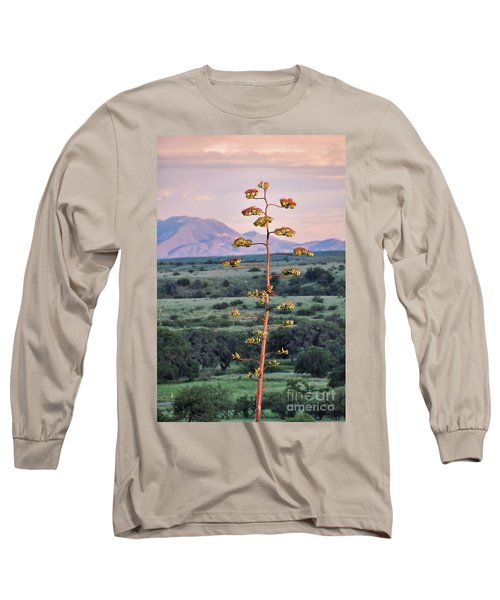 Long Sleeve T-Shirt featuring the photograph Centuryplant by Gina Savage