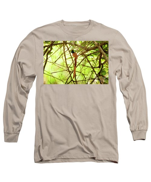 Ceylon Paradise Flycatcher Long Sleeve T-Shirt