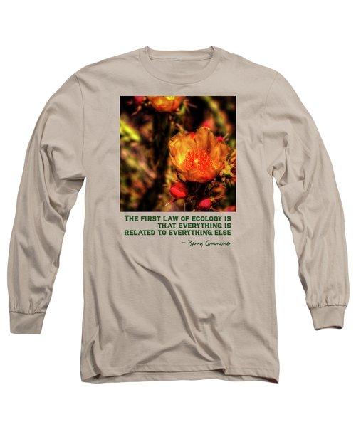 Chain Clolla Flower Long Sleeve T-Shirt