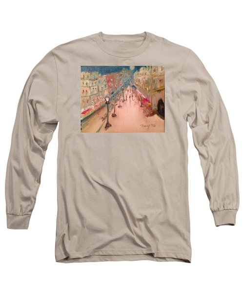 Champs De Elysee At Twilight. #paris Long Sleeve T-Shirt