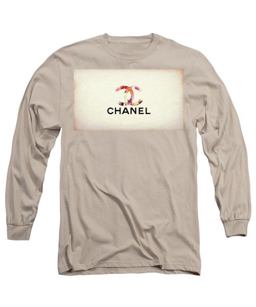 Chanel Floral Texture  Long Sleeve T-Shirt